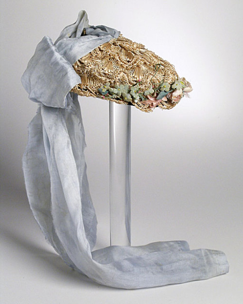 1870s bonnet via The Los Angeles County Museum of Art