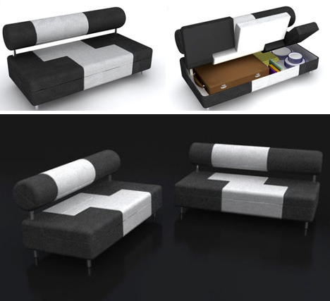 Saving Space - SofaSofa   Definitely need one of these for the house.