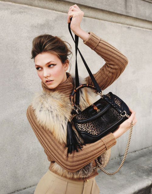 Karlie in camel wool with just a touch of fur, leopard and leather.  Fall inspiration.