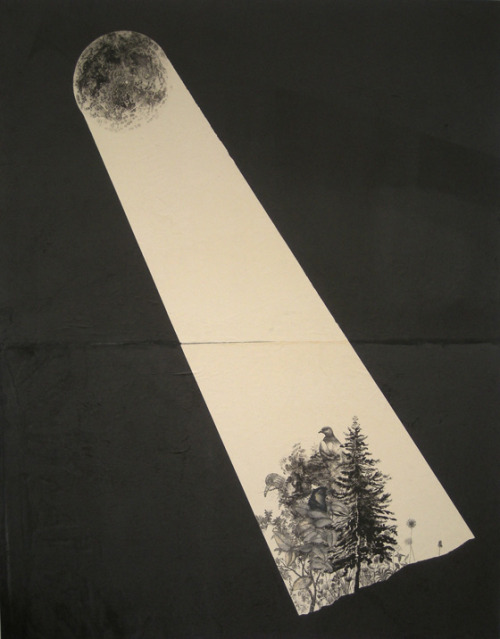 ghoulnextdoor:   Stas Orlovski  Nocturne with Pine and Birds