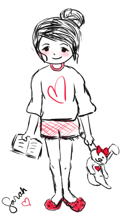 Messy Bun, Wearing loose shirt, Short shorts, Lesser make-up, Fluffy slippers, Reading pocket books at home. :)