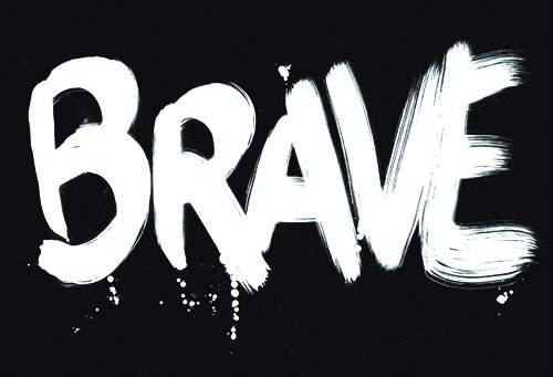 BRAVE New wall graphic created for the offices of Landor Associates, Sydney