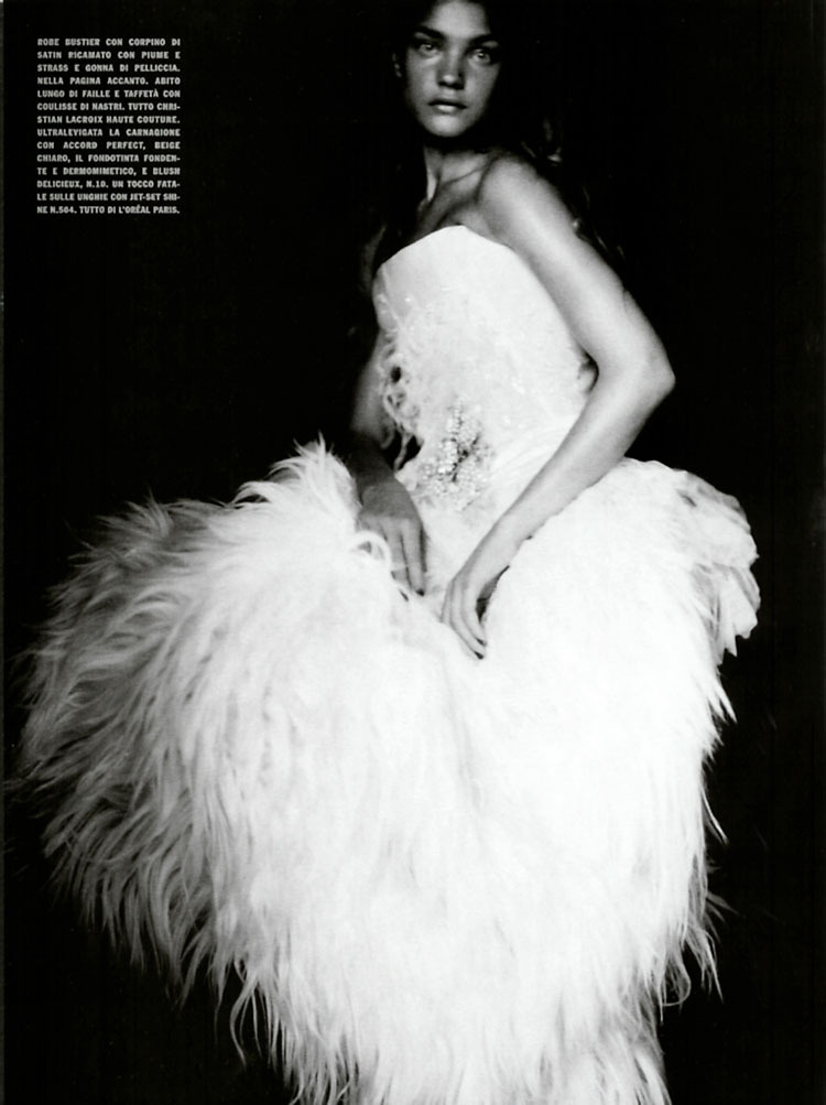 Natalia Vodianova photographed by Paolo Roversi - Vogue Italia: September 2004 - A Girl of Singular Beauty