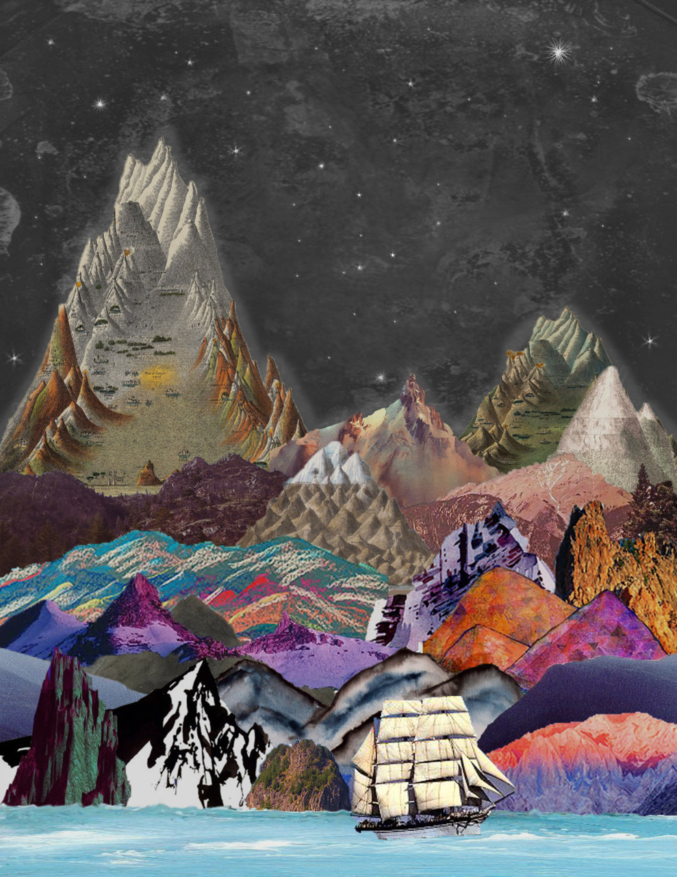 celestialillusion:  Collage- Mtnz (By Elissa Hastings)