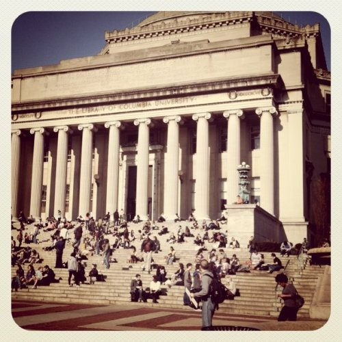 Beautiful spring like day at Columbia (Taken with instagram)