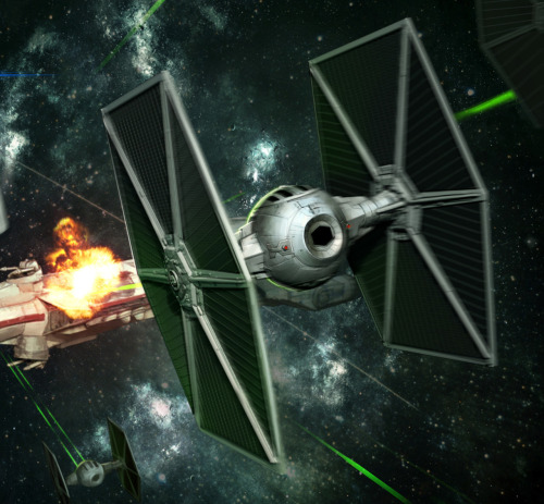 TIE Fighter Assault - by Darren Tan  Via: (tiefighters)