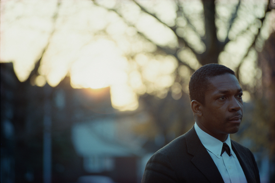 tornandfrayed:  John Coltrane at sunset, Queens, NY, 1963. Photo by Jim Marshall.