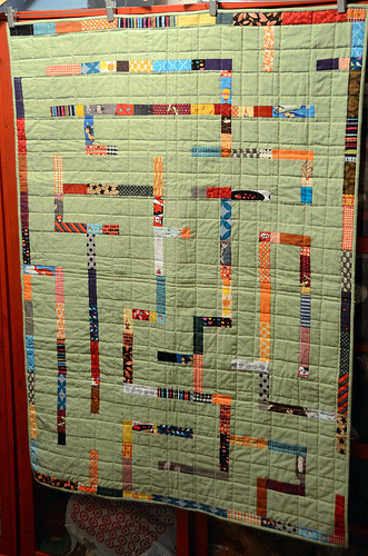 I spy a maze. A-MAZE-ing Quilt by Nova, an original design featured on her blog.