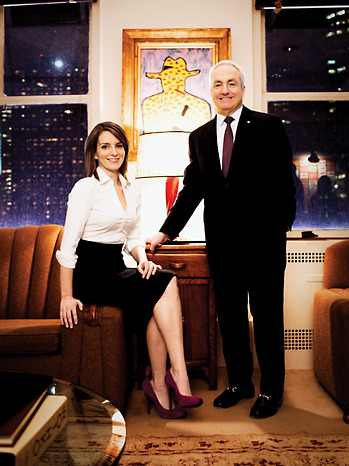 Tina Fey and Lorne Michaels. I just like this picture?