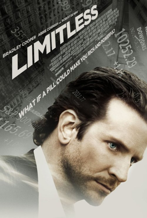 djkai:  OFFICIAL POSTER | Limitless OFFICIAL SYNOPSIS: Eddie Morra (Cooper) is an unemployed writer whose girlfriend Lindy (Cornish) breaks up with him. Eddie believes he has no future, but when a friend introduces him to the experimental drug MDT, Eddie becomes highly focused and highly confident. He is able to recall everything he has read, heard or seen, and he uses the knowledge to become successful in the financial world. Business mogul Carl Van Loon (De Niro) sees Eddie as a potential tool to make money, but Eddie's success also attracts hitmen who pursue him for the MDT. Eddie's stash dwindles, causing him side effects, as he tries to escape being assassinated. RELEASE DATE(S): Bosnia and Herzegovina 17 March 2011 Russia 17 March 2011 Canada 18 March 2011 Poland 18 March 2011 UK 18 March 2011 USA 18 March 2011 Czech Republic 24 March 2011 Slovenia 24 March 2011 Finland 1 April 2011 Germany 7 April 2011 Hungary 14 April 2011 Norway 15 April 2011 Sweden 29 April 2011
