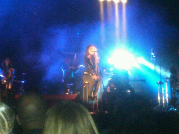 Vanessa Paradis tonight at The Orpheum in L.A. Girl has a voice of an angel.