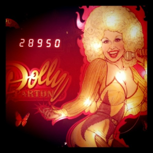 atencio:  Dolly!  Speaking of royalty… I would straight up worship at this shrine on a weekly basis. Especially because even though I suck at video games, pinball doesn't care that I'm a button masher.