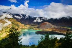 Mt. Rinjani Volcano and Segara Anakan Lake | Indonesia By: Jchip8