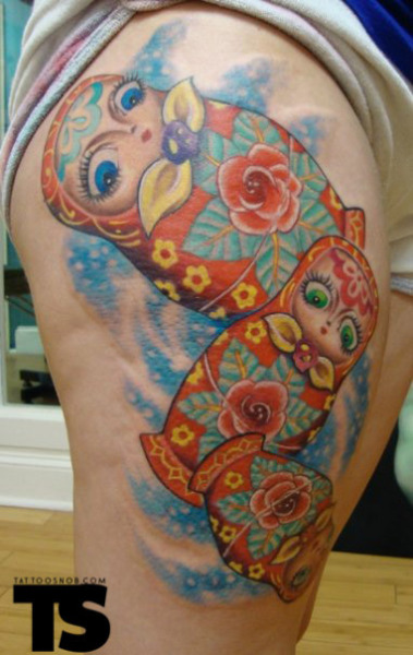 Russian dolls #tattoo by Scott Olive, FL