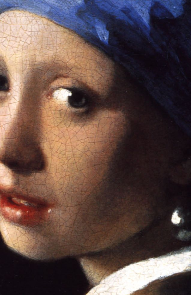 Johannes Vermeer Girl with A Pearl Earring  Mauritshuis, The Hague Detail