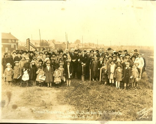 Columbus, Ohio: Groundbreaking of the St. Clair Ave. M.E. Church, 1925