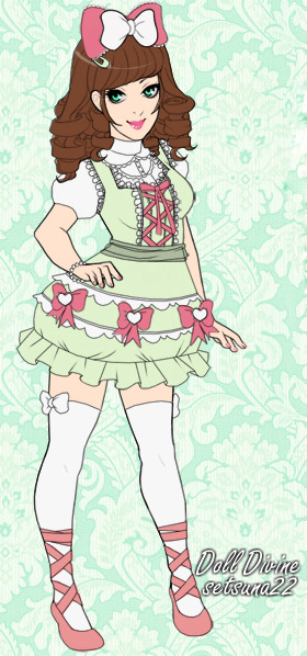 Setsuna22 from Deviant Art made a dress up doll for Doll Divine.com! Guh I used to go on doll dress up mini games all the time .///. this ones super cute <3 And her artwork is amazing <3 You can play here: http://my.deviantart.com/messages/#/d39rjb3 Or here: http://www.dolldivine.com/