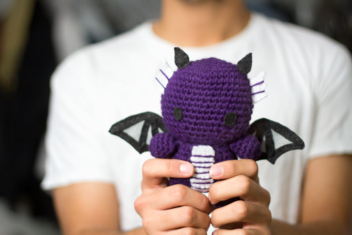 Purple Baby Dragon Amigurumi