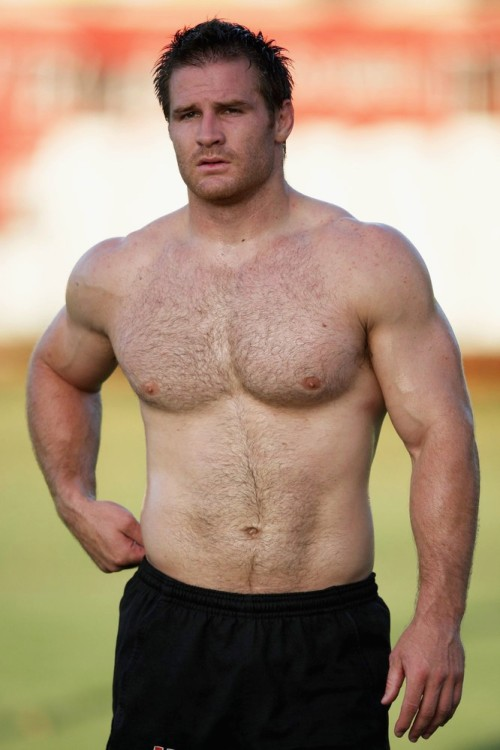 rugbyandbears:  South African rugby player Craig Burden. Wouldn't be a burden on me….