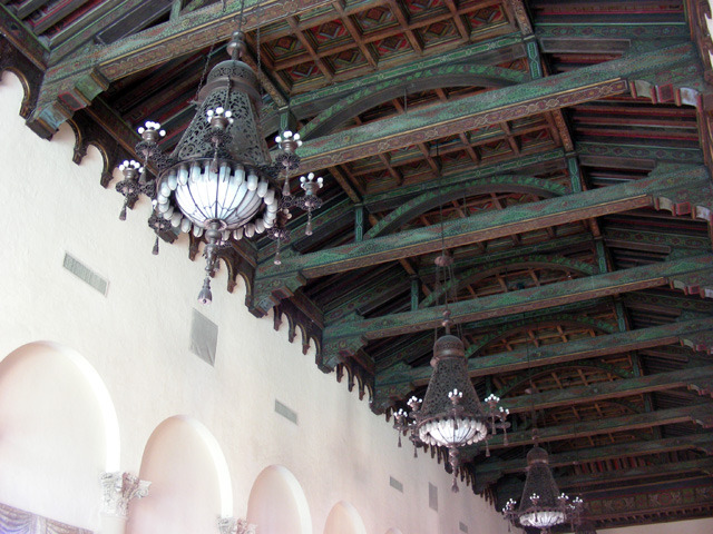 Check out the arched ceiling at the Biltmore, so pretty!