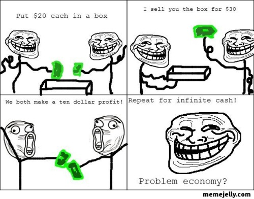 justnithya:  memejelly:  Troll Physics: Infinite Cash   #mindfuck.