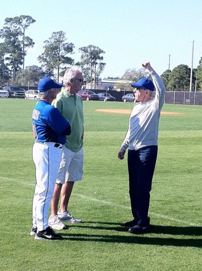 sportsnetny:  Terry Collins, Sandy Koufax, and Fred Wilpon in Port St. Lucie  Michael G. Baron - Sports Photography   Few realize that Fred was the better pitcher for Lafayette High School. Koufax was the basketball star.
