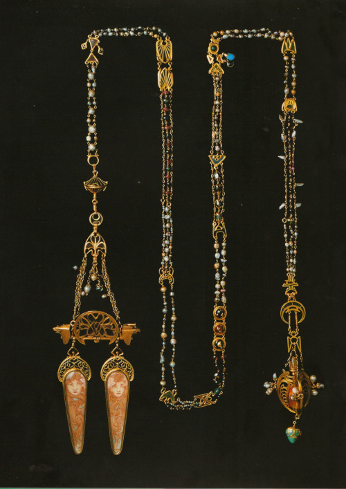 Jewelry by Alphonse Mucha for Georges Fouquet, c. 1900