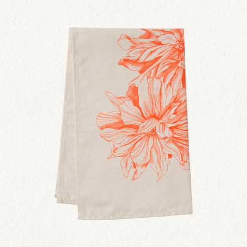This dhalia tea towel would make for a sweet gift for any bride.