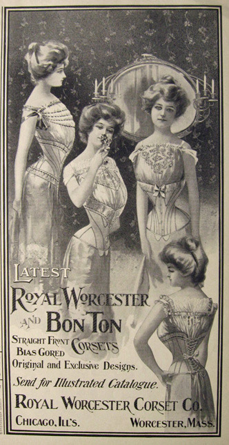 Royal Worchester and Bon Ton Corsets, 1901