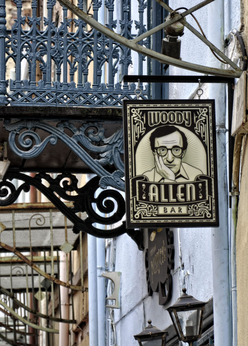 petkovski:  Woody Allen Bar in Thessaloniki. I wonder whats in there.