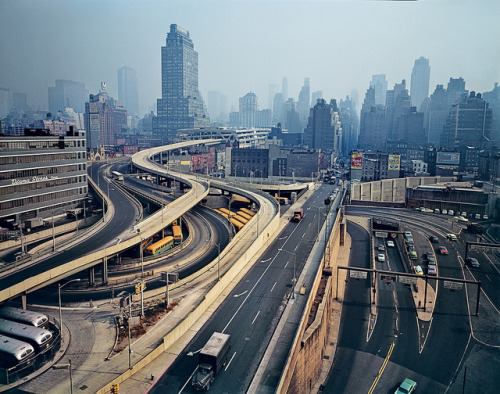 Evelyn Hofer: Arteries -  a photo by levisworkshops.  A series of highways flowing through the heart of Manhattan's West Side, 1964. On exhibition - New York: Portrait of a City @ Levi's Photo Workshop 10/14-10/17 [2010]  via simen at enthusiasms.