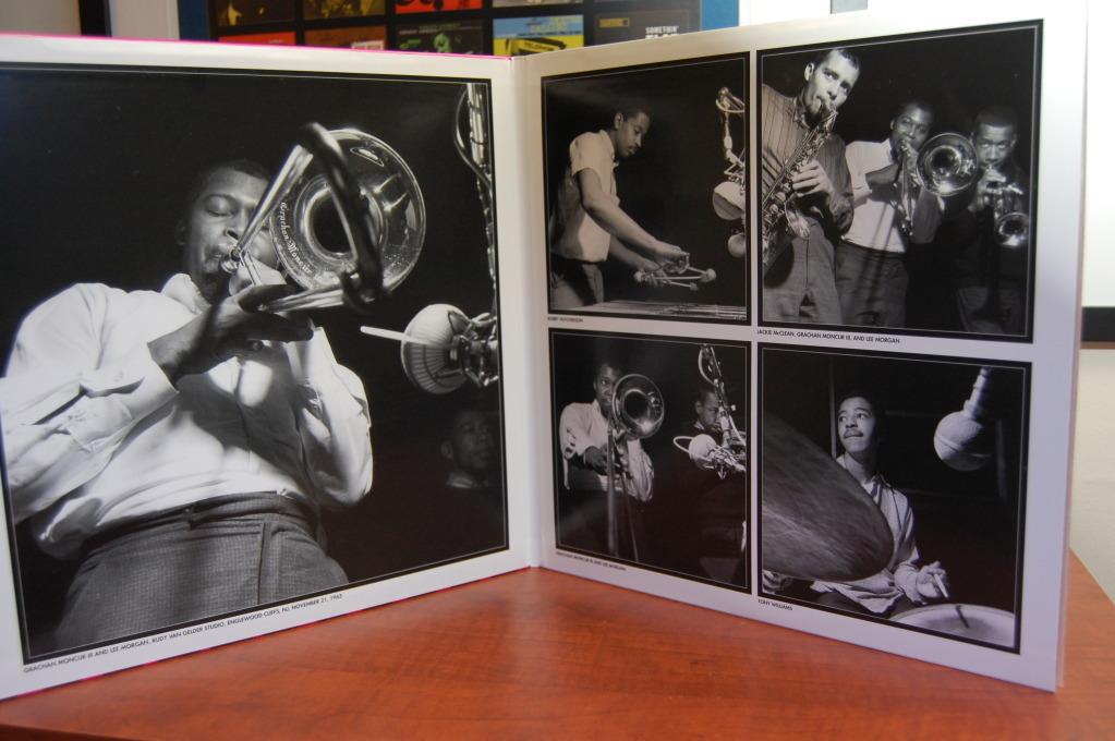 Gatefold cover of Grachan Moncur III's 'Evolution'. Francis Wolff always delivers.