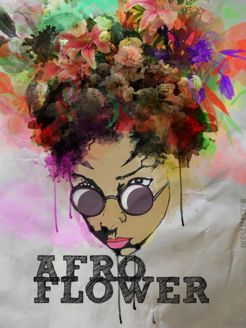 AFRO FLOWER (COLORED) BY IKE SLIMSTER