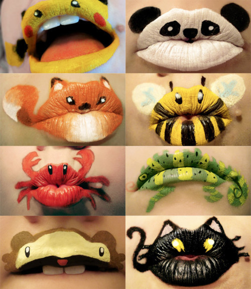 chicmakeupgeek:  PUCKER UP!!! How adorb are these animal lips!! I heart it!