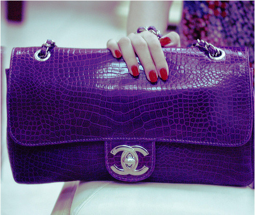 oooh la la…one purple crocadilicious bag!