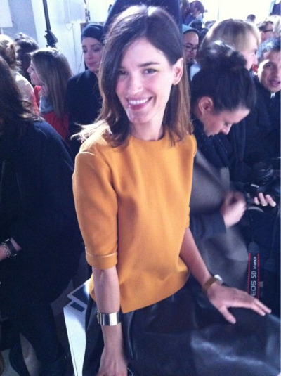 The beautiful @HanneliM at Acne #LFW
