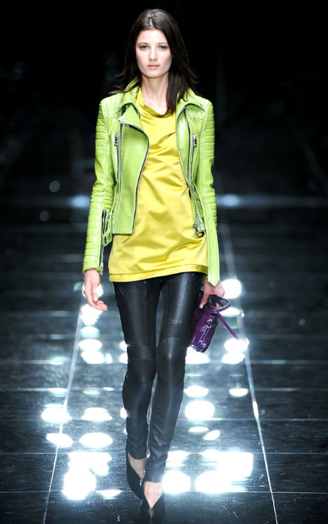 Look at Those Jacket! - 1 Burberry Prorsum Leather Jackets are undoubtedly the best around. All fitting, edgy, classy and never lack the element of funk! Spring 2011 in Lime green. Funk max