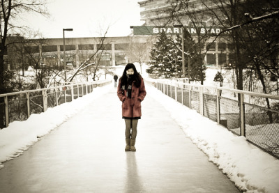 Bundle up, Spartans. [via conniemly]