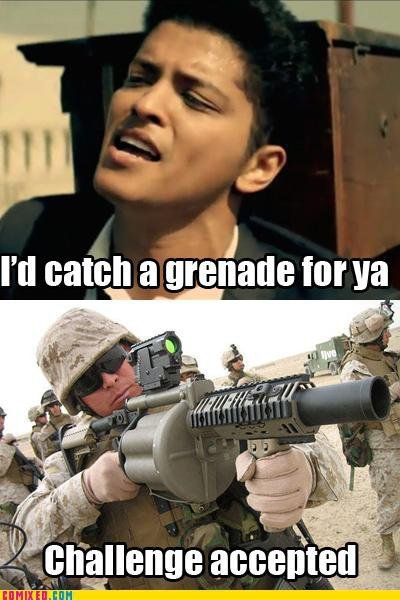 hahahaha…go catch that grenade!!!LOL