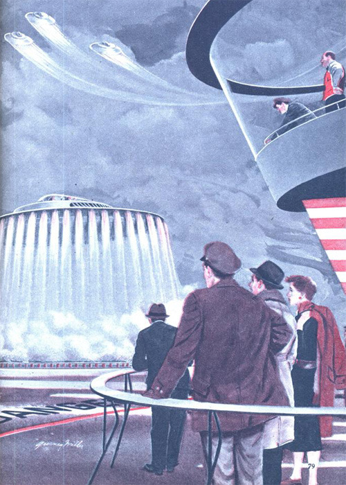 "sunday fantasy #292: from ""How The Flying Saucer Works"", Mechanix Illustrated March 1956"