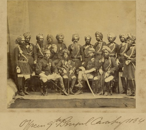 gdfalksen:  Officers of the 19th Bengal Cavalry, 1864.