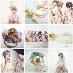 Marquise Collection - Marie Antoinette 18th century costume jewellery by Nikki Montenegro Visit my blog: http://nikkimontenegro.blogspot.com/