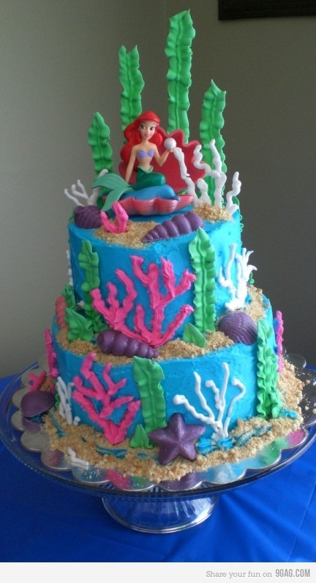 9gag:  Little Mermaid Cake