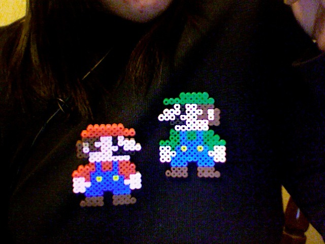 It's the Mario Brothers! Hah, don't they look related? :P