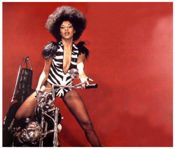 Betty Davis, circa 1974. So far ahead of the game.  http://www.afrobella.com/2007/07/31/afrobella-of-the-week-betty-davis-the-original-funky-bella/