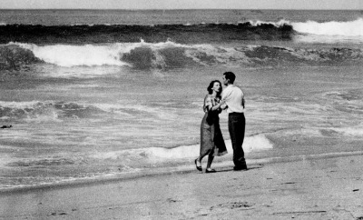 """April 2, 1954: A couple is photographed moments after learning that their 19-month-old child had been swept out to sea at Hermosa Beach. That morning, Times photographer Jack Gaunt was at his beachfront home when he heard a neighbor shout, ""Something's happening on the beach!"" Gaunt grabbed his Rolliflex camera and headed toward the shoreline. His photograph appeared on the front page of The Times the next day. The image won the 1955 Pulitzer Prize for press photography; the Pulitzer committee called the photo ""poignant and profoundly moving."" But for Gaunt, the image was hard to bear at first, his daughter recalled in Gaunt's 2007 Times obituary."""