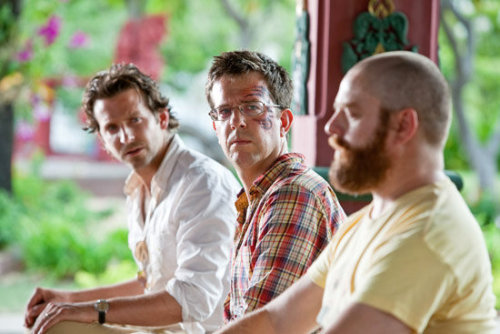 Another new image from The Hangover 2 Yet another tantalising new image from The Hangover 2 has found its way online, while a trailer should be turning up some time this week. This new snap shows off three of our leads once more, though it must be somewhere near the beginning of the trip because nobody's looking quite as beaten up yet as they surely will be by the sequel's close. The follow-up to 2009's unexpected bromantic hit, Hangover 2 sees Phil (Bradley Cooper), Stu (Ed Helms), Alan (Zach Galifianakis) and Doug (Justin Bartha) travel to exotic Thailand for Stu's wedding.