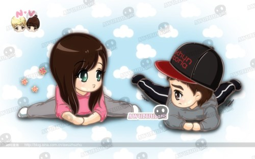 [Fanart] Khuntoria cartoon for ep34 cr: awuzhuzhu@t.sina.com