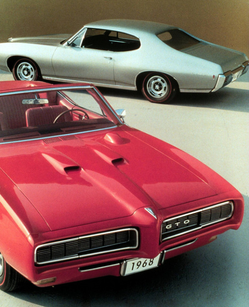 1968 Pontiac GTO Hardtop and Convertible (by coconv)  via chromjuwelen