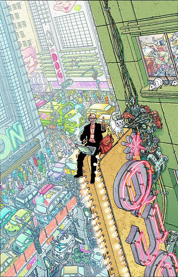 Submitted by helmhammerhand:  Transmetropolitan by Warren Ellis and Darick Robertson